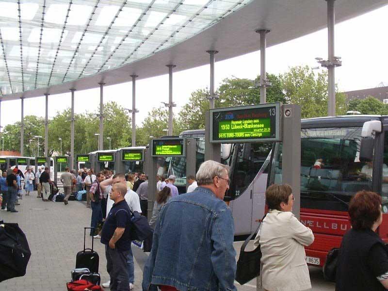Hamburg-St Georg ZOB coach terminal