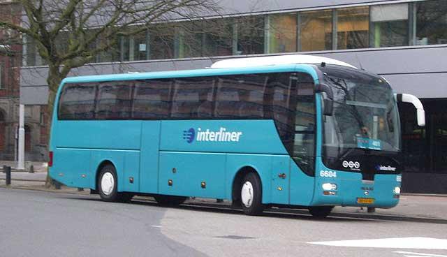 Interliner coach at Utrecht Centraal station